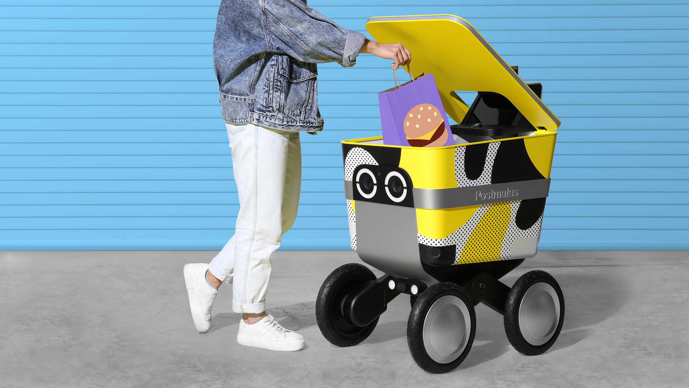 Serve delivery robot by New Deal Design and Postmates
