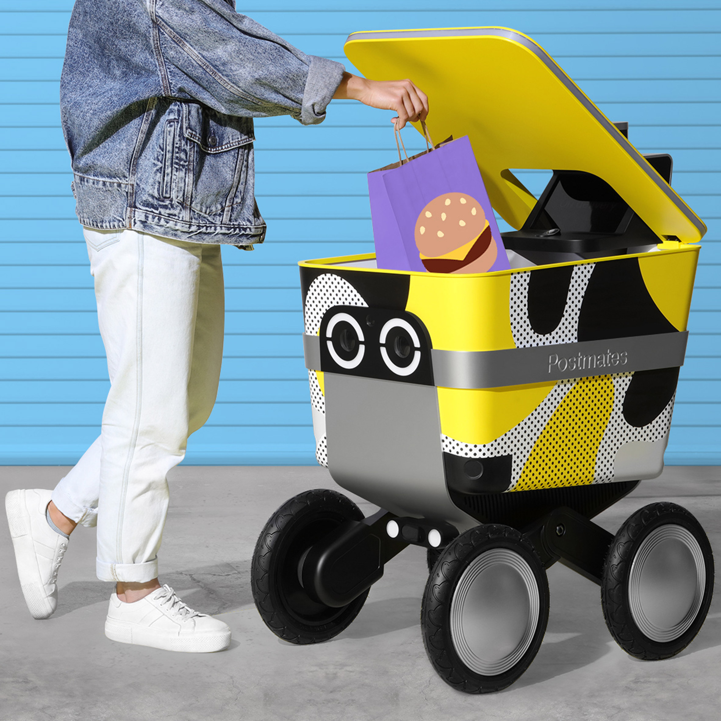 Postmates' delivery robot Serve created by New Deal Design to be lovable
