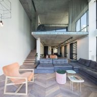 Sandra Robles Boesler leaves concrete slabs exposed in renovated Panama apartment