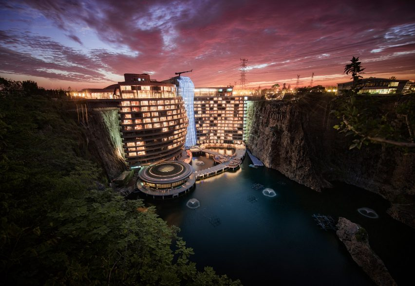 Quarry hotel: Shimao Wonderland Intercontinental Hotel in China by Jade+QA