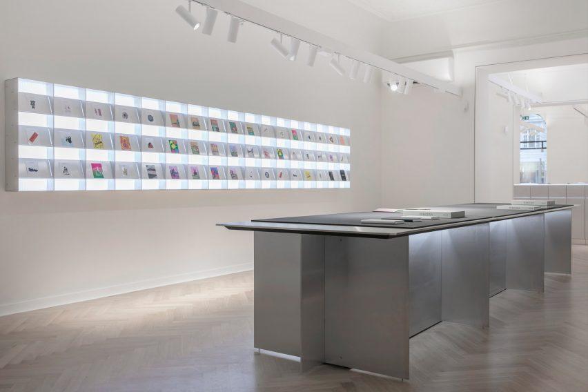 Interiors of Rimowa's Berlin store, designed by Universal Design Studio