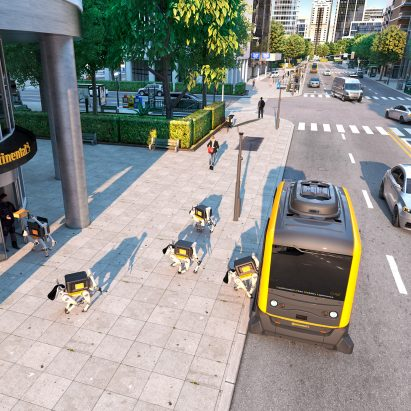 Continental's autonomous robot dogs could help deliver parcels