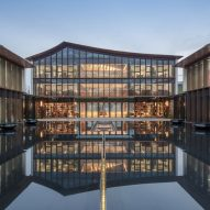 Lacime Architects arranges leisure centre in Suzhou around reflective pools