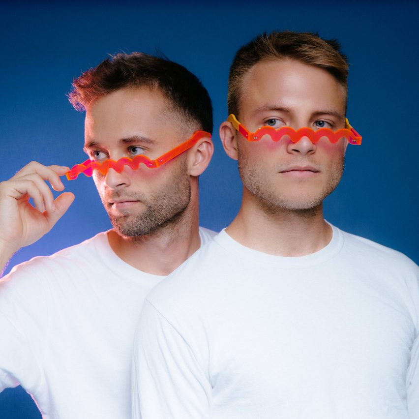 Bentel Brothers design red glasses as