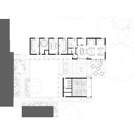 Ground floor plan of St Teresa's Sixth Form College by IF_DO