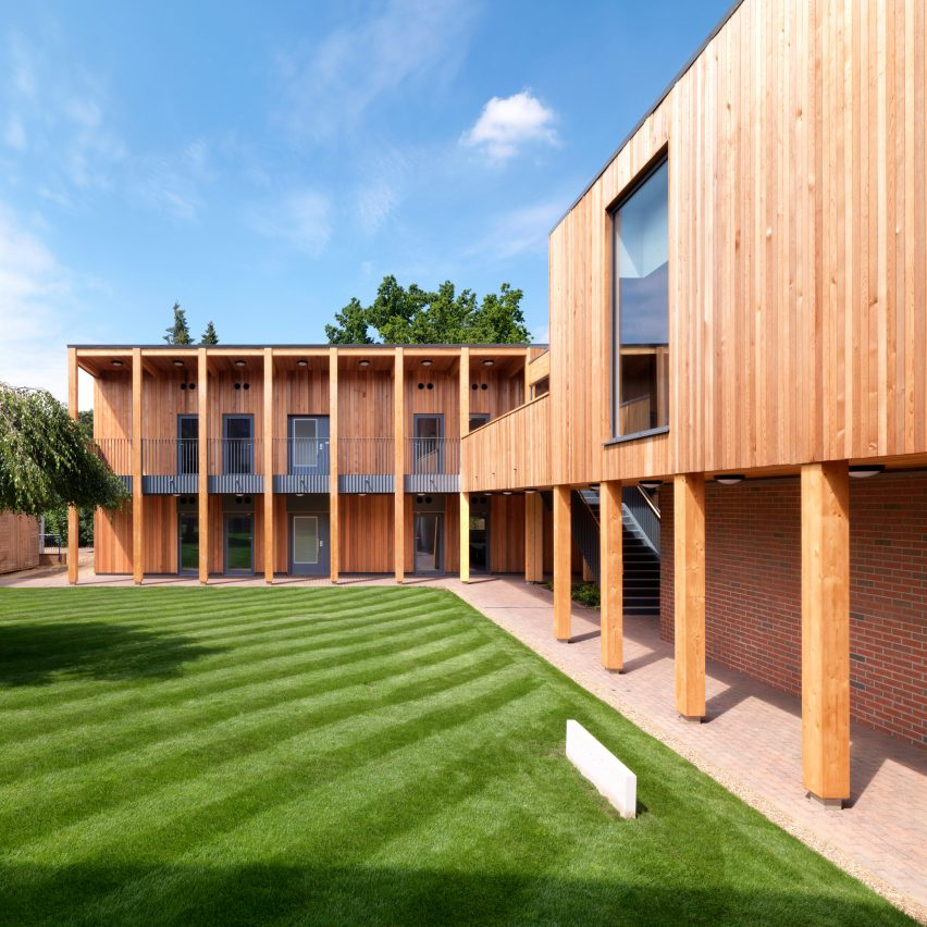 Colonnades and courtyards bring nature into sixth-form college by IF_DO