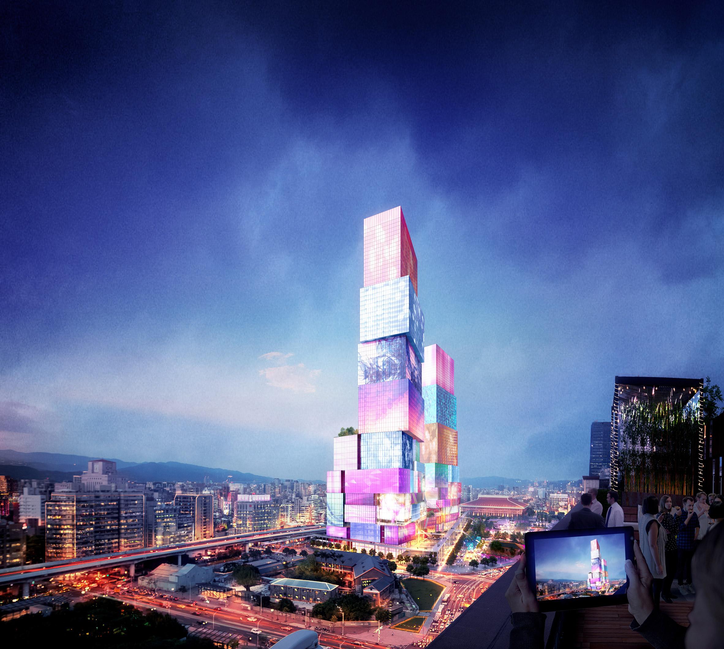 Taipei Twin Towers proposal by MVRDV
