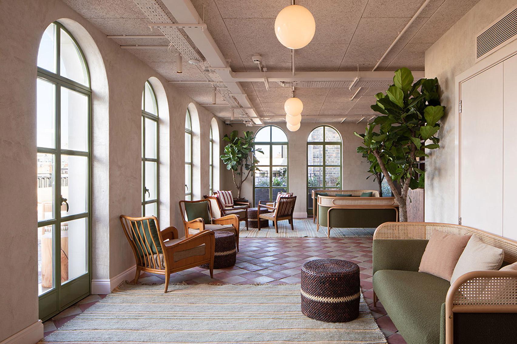 Interiors of The Conduit members club in London, UK
