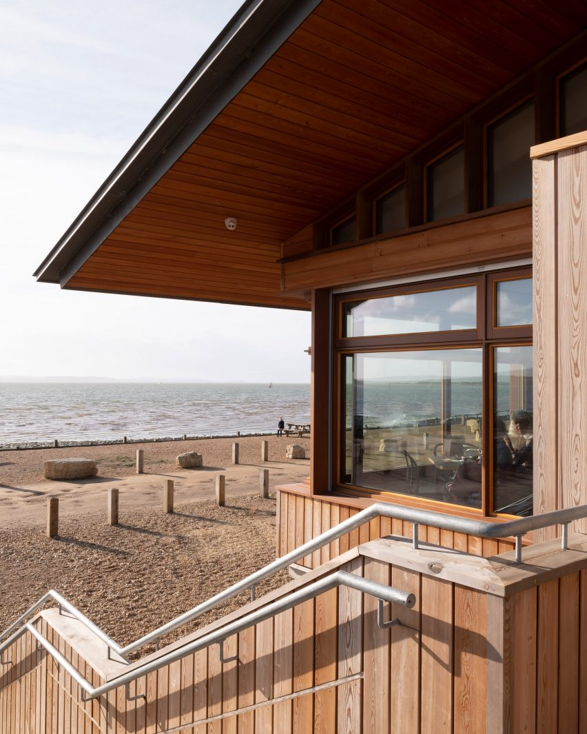 The Lookout in Lepe Country Park designed by Hampshire County Council's Property Services
