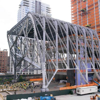 The Shed's moving roof by Diller Scofidio + Refro