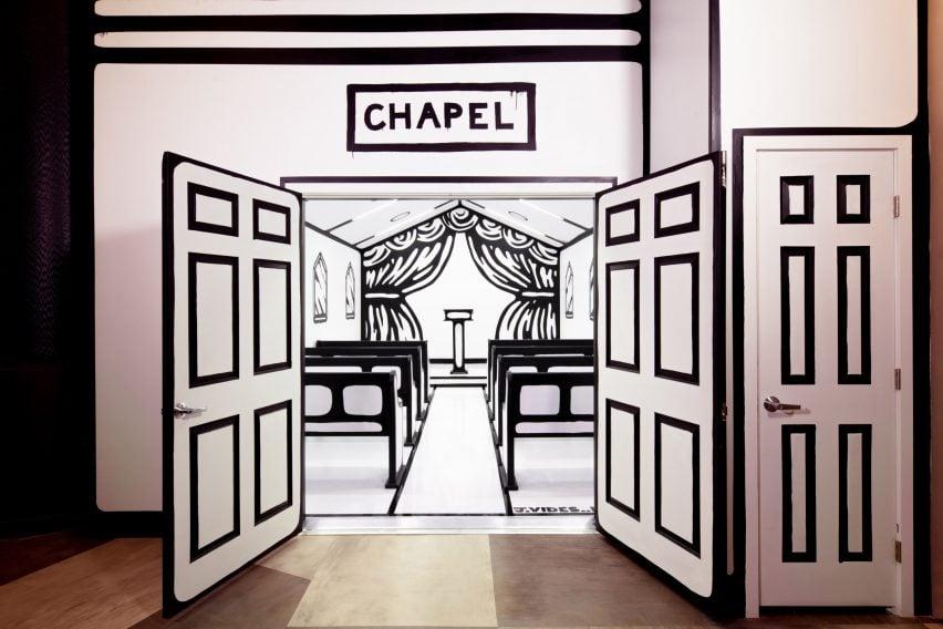 Las Vegas Chapel By Joshua Vides Features Line Drawn Details