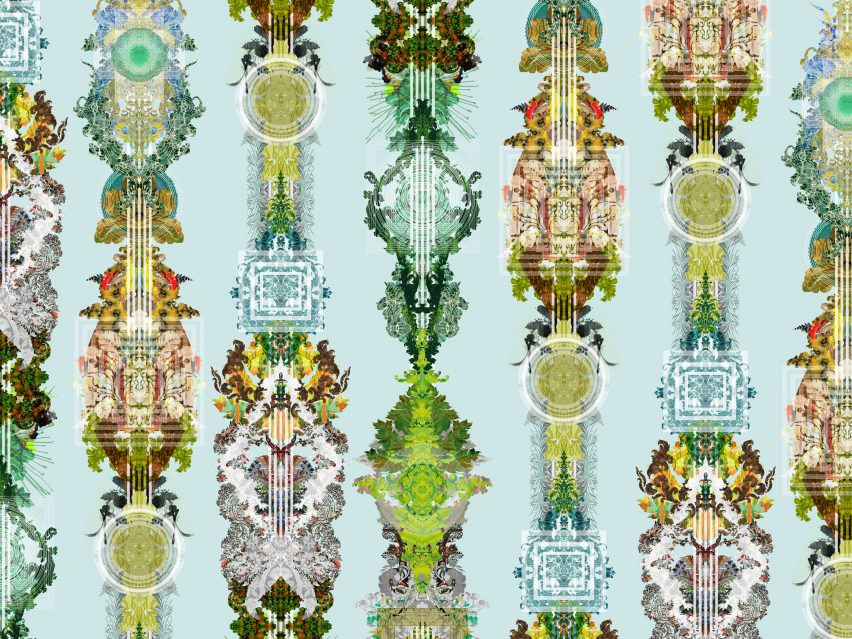 Timorous Beasties' wallpaper series features totemic patterns