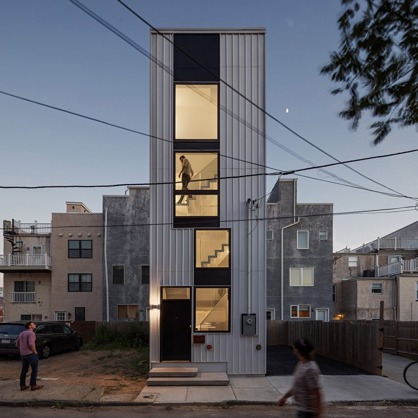 ISA's Tiny Tower residence fills leftover plot in Philadelphia