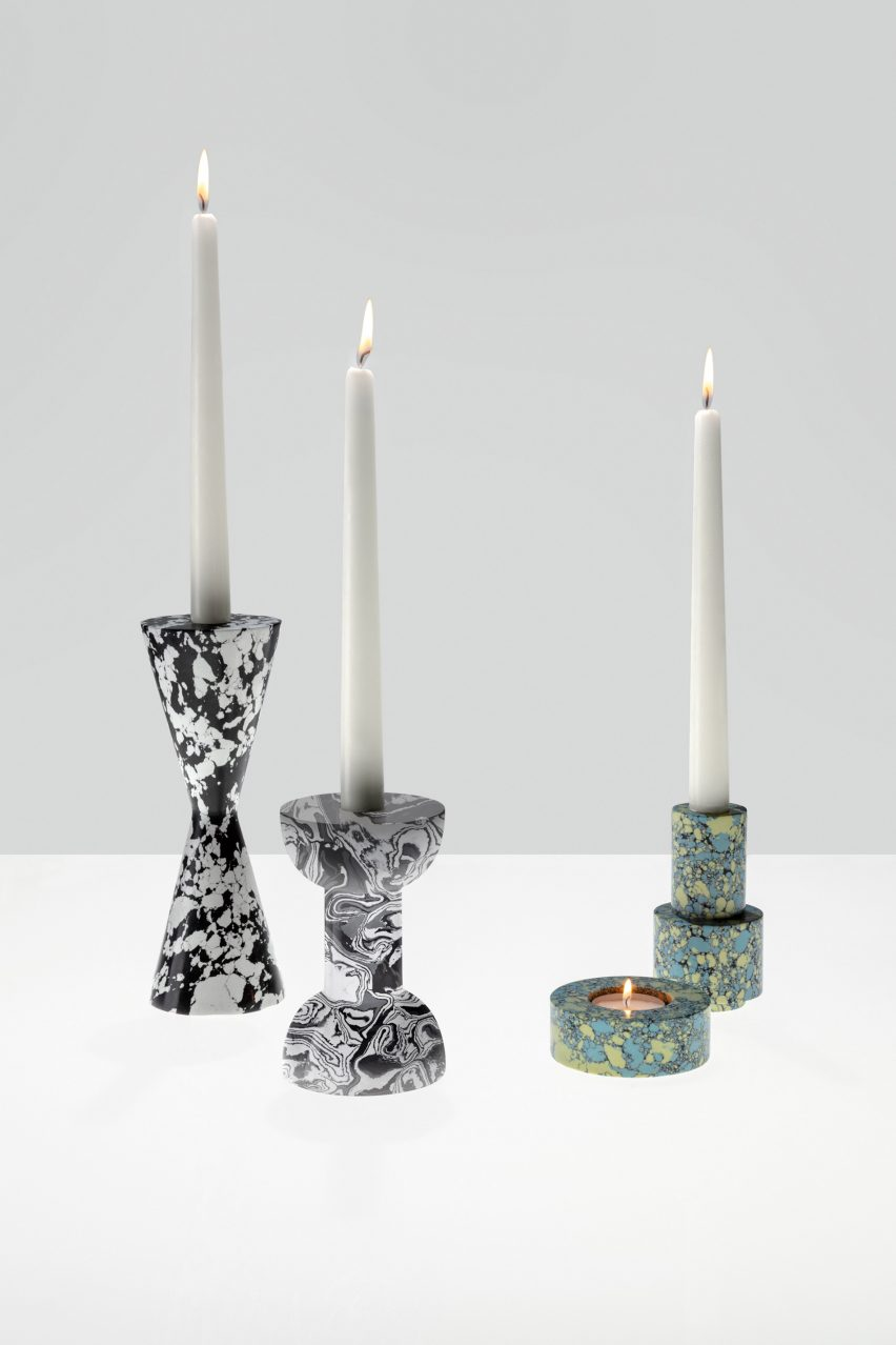 Tom Dixon creates Swirl collection using newfound marble-like material