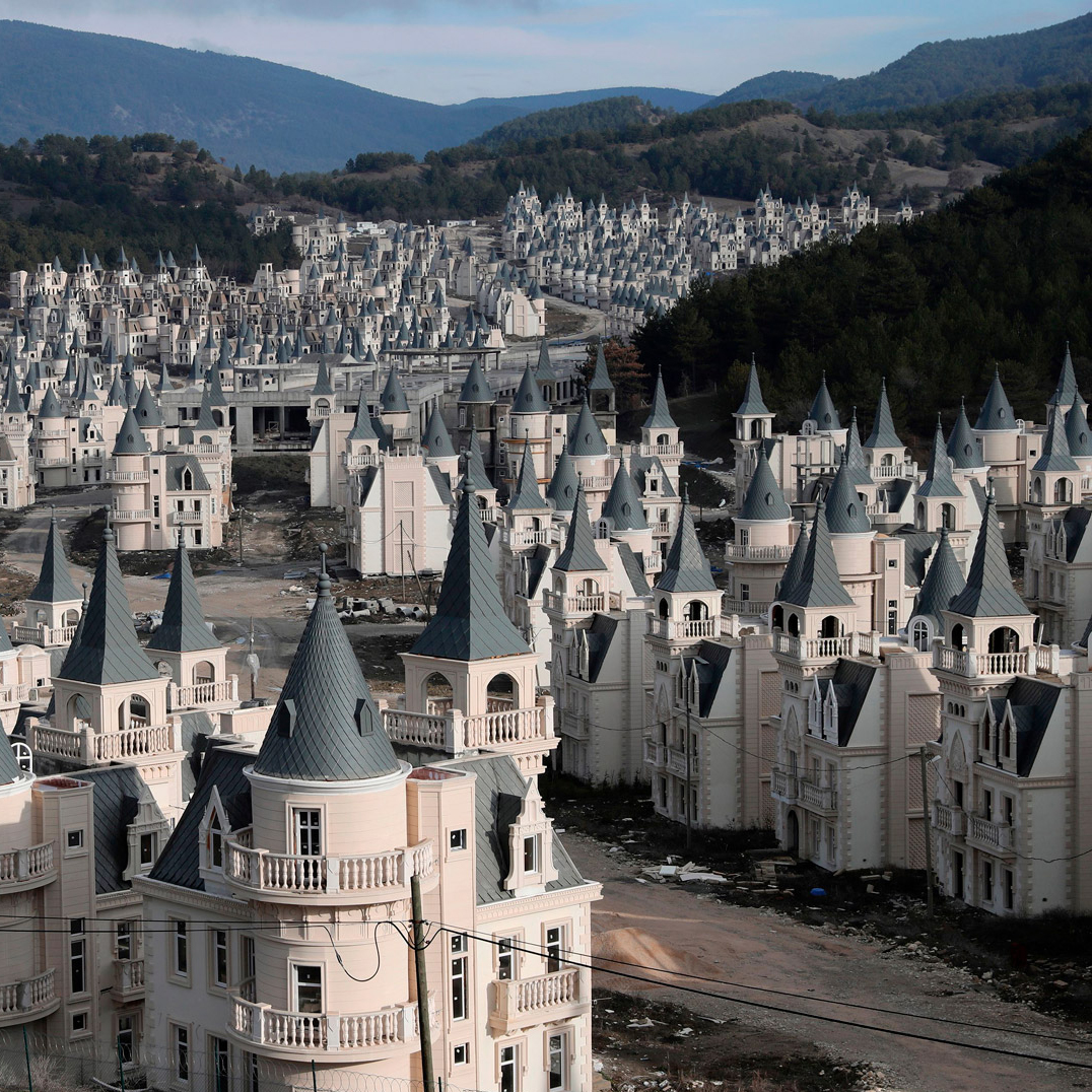 dezeen.com - Tom Ravenscroft - Drone footage reveals hundreds of abandoned Turkish chateaus
