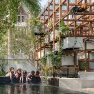Climbing-frame library in Vietnam has a thriving aquaponics system