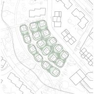 Site plan of Vertical Village II by Tham & Videgård Arkitekter