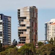Bureau Proberts wraps Brisbane tower in a slatted screen