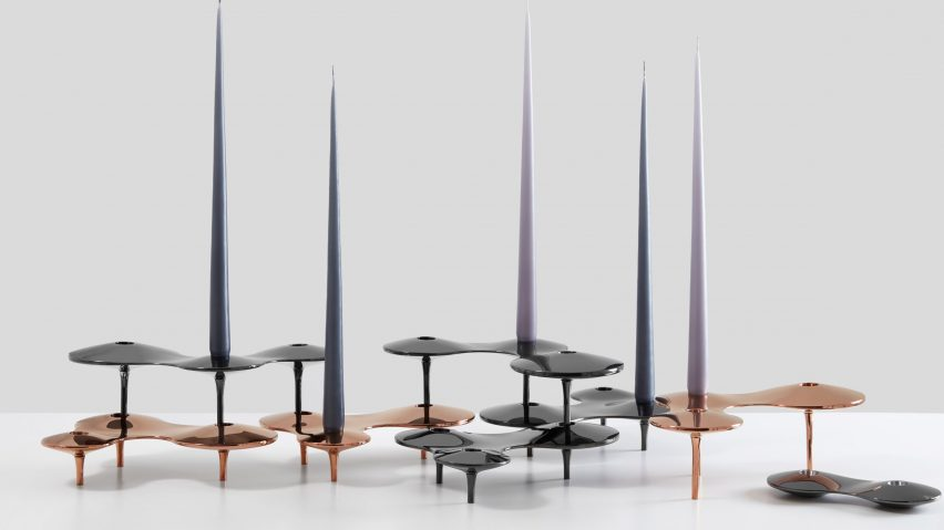 Zaha Hadid Design's candleholders appear to float in mid-air