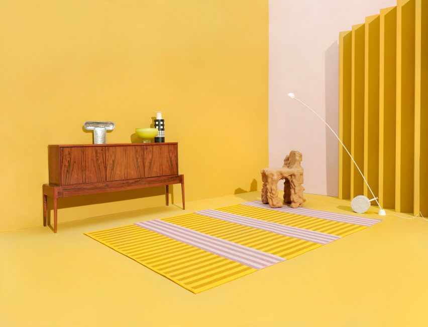 Striped Kasthall rug by Sight Unseen at Stockholm Design Week