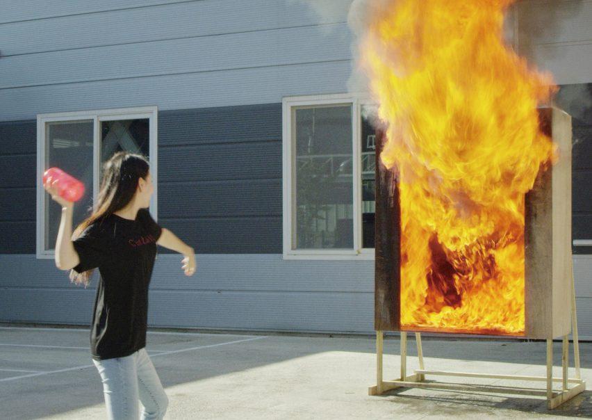 Firevase fire extinguisher vase
