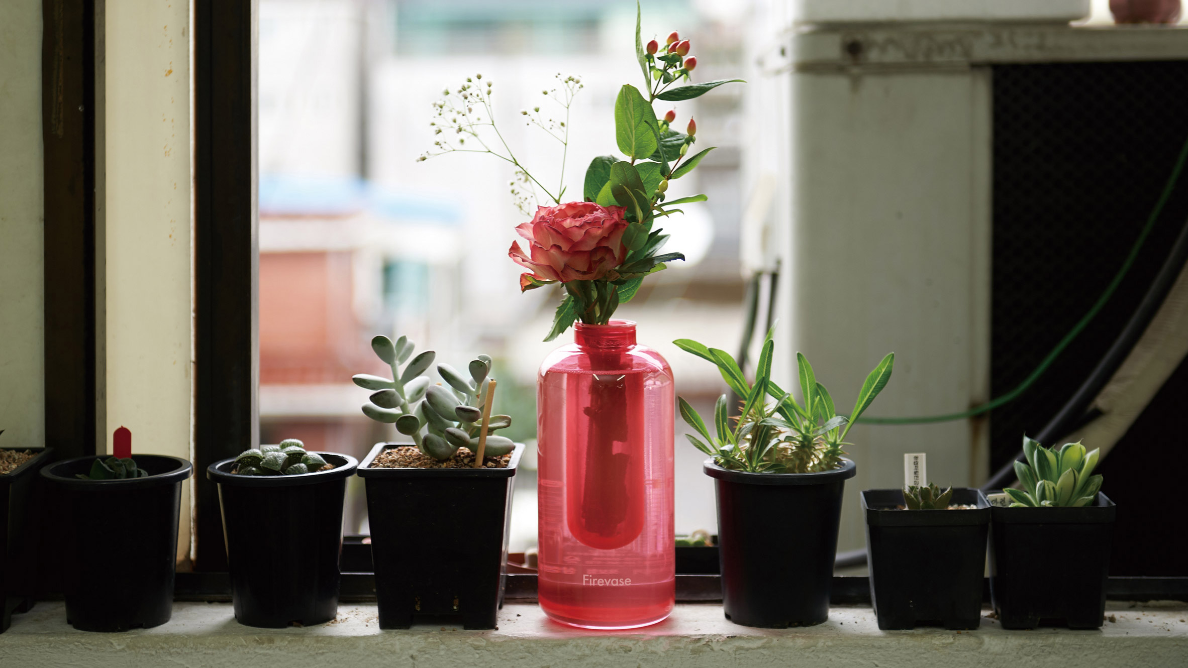 Firevase is a vase that doubles as a fire extinguisher