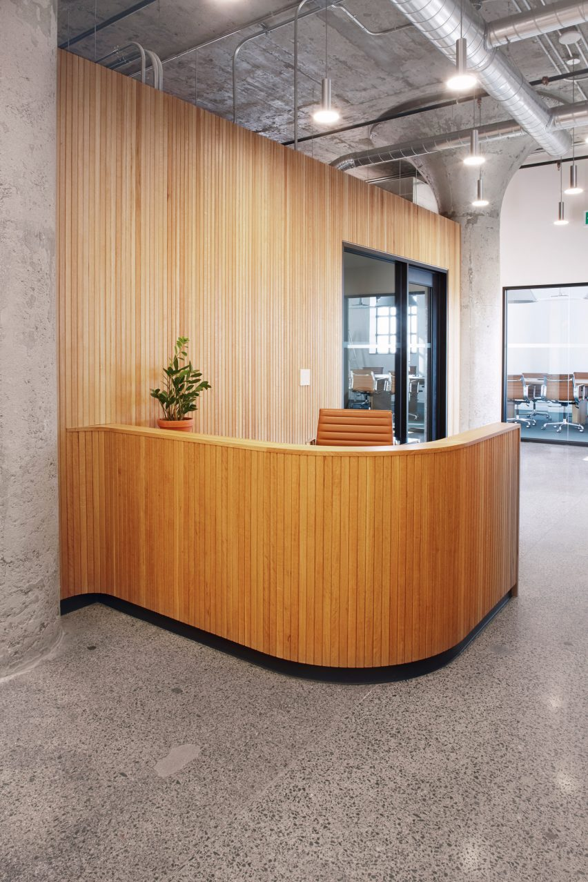 Reception area in Agency 59 by MSDS Studio