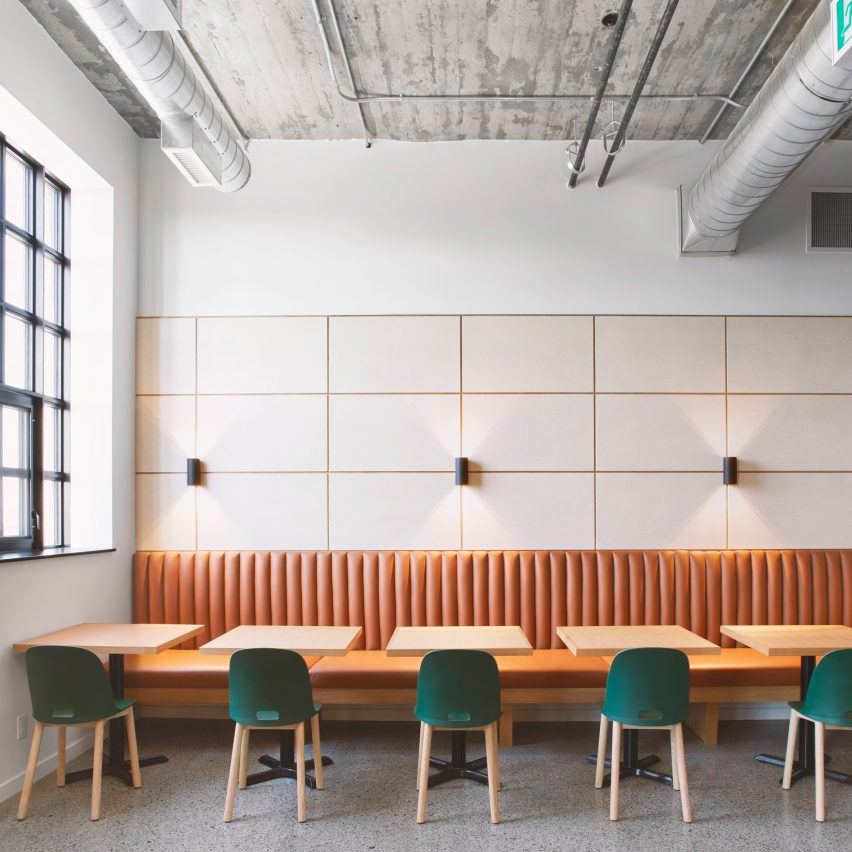 Lunch room in Agency 59 by MSDS Studio
