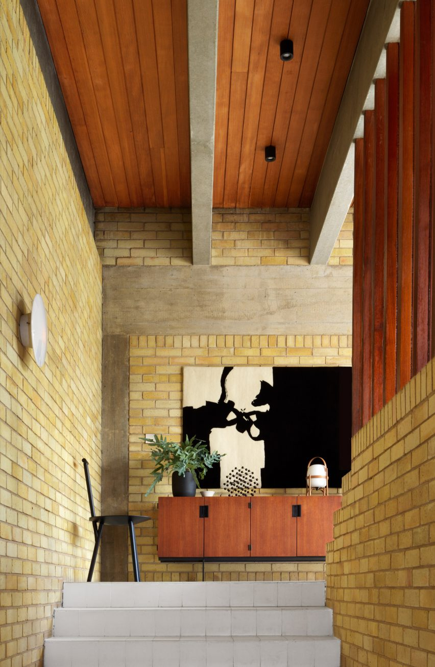Staircase of Ahm House by Jørn Utzon renovated by Coppin Dockray