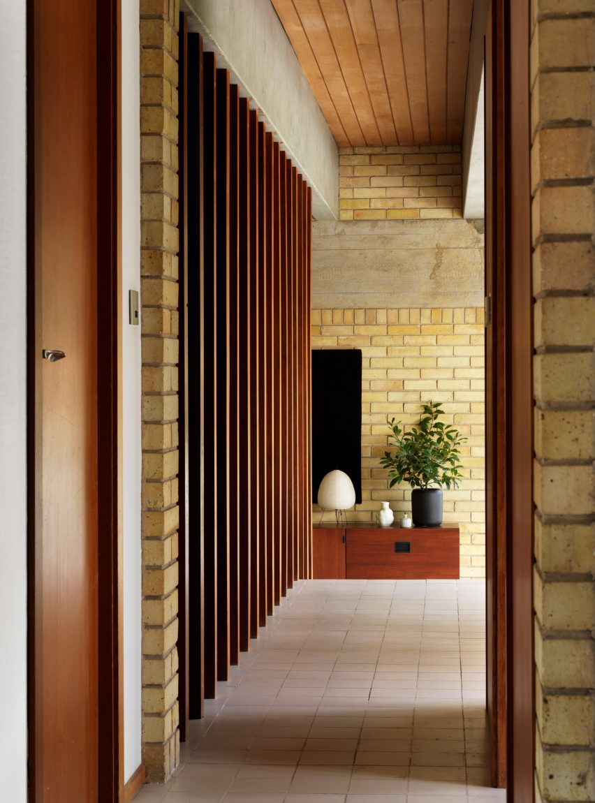 Interior of Ahm House by Jørn Utzon renovated by Coppin Dockray