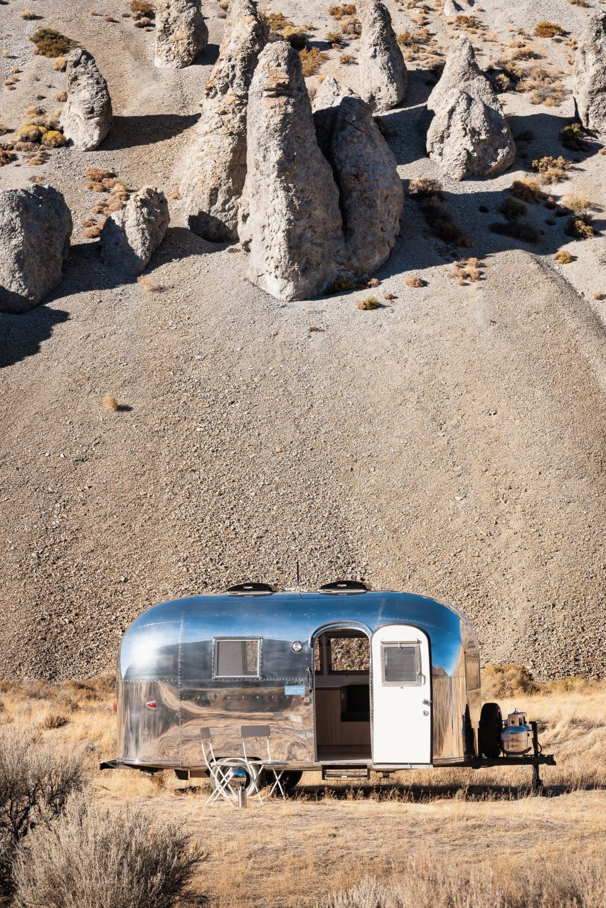 Airstream Caravan Vintage vintage airstream becomes mobile office for silicon valley