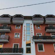 Exterior of Albergo Miramonti hotel, designed by Boxx Creative