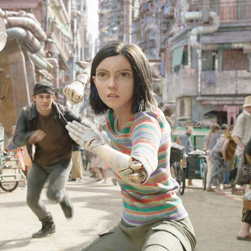 """Alita: Battle Angel sets offer a """"respite"""" from dark sci-fi dystopia, say production designers"""
