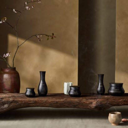 Kengo Kuma packaging Aman hotel cosmetics