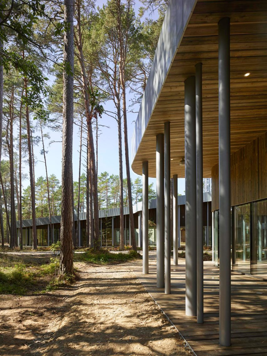 Arvo Pärt centre by Nieto Sobejano Arquitectos. Photo by Roland Halbe