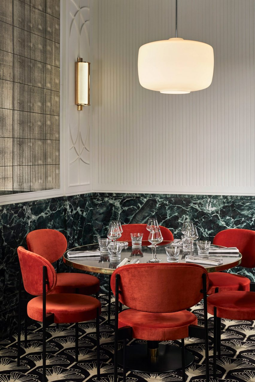 Beefbar Paris: Interiors of Beefbar restaurant in Paris, designed by Humbert & Poyet