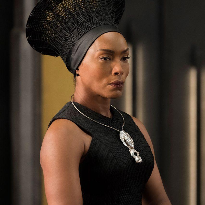 Angela Bassett as Queen Ramonda in Black Panther