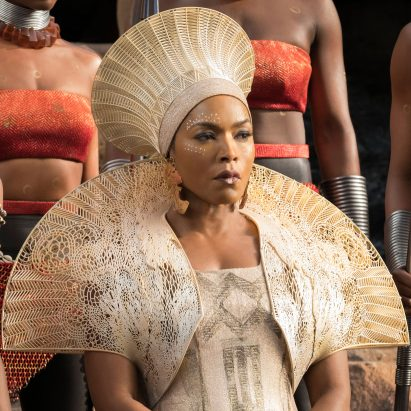 Angela Bassett as Queen Ramonda in Black Panther