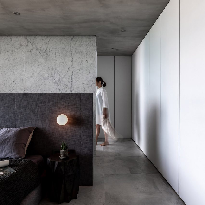 Wei Yi International Design Associates creates grey-toned apartment in Taipei