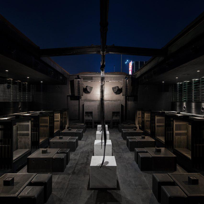 Bernard Khoury gives Beirut's B018 nightclub an even darker upgrade
