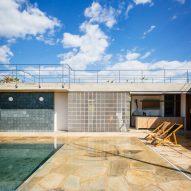 """Courtyard patio doubles as """"a small beach"""" at Brazil's Casa João de Barro"""