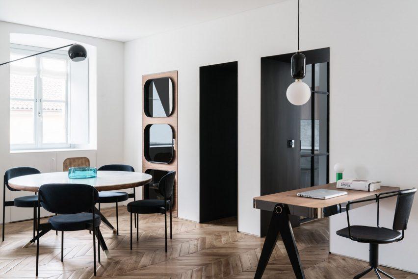 Interiors of Casa Lagrange, designed by Fabio Fantolino