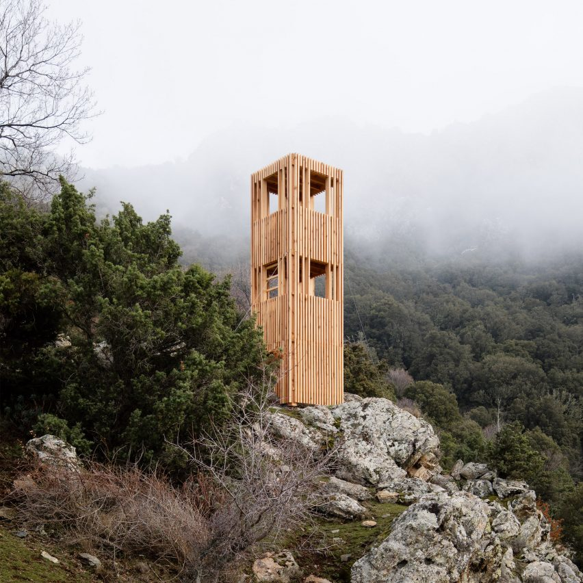 Corsica Deer Observatories by Orma Architettura