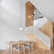 Plywood features in Montreal house renovation and extension by Naturehumaine