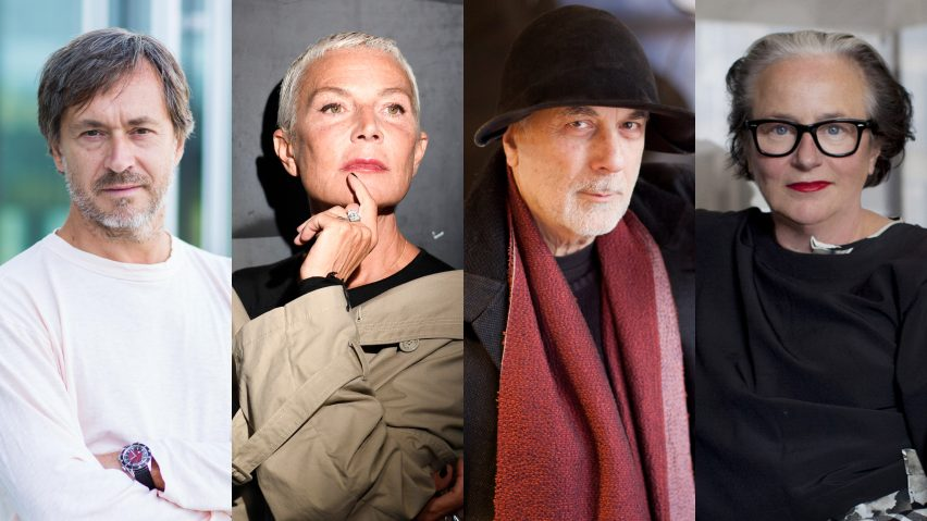 Dezeen Awards 2019 judges Marc Newson, Doriana Fuksas, Ron Arad and Li Edelkoort