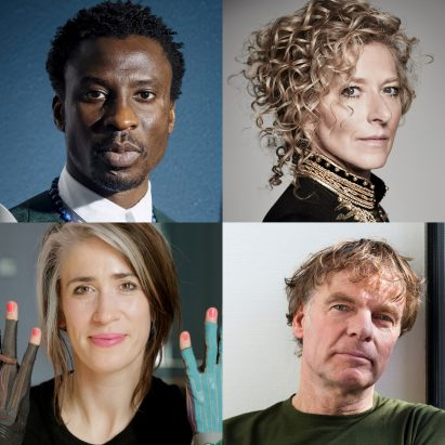 Dezeen Awards 2019 judges Ini Archibong, Kelly Hoppen, Imogen Heap and Winy Maas