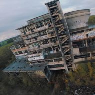Racing drone explores abandoned coal factory