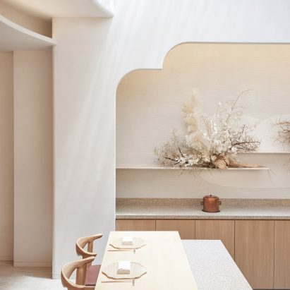 Interiors of Esora restaurant, designed by Takenouchi Webb