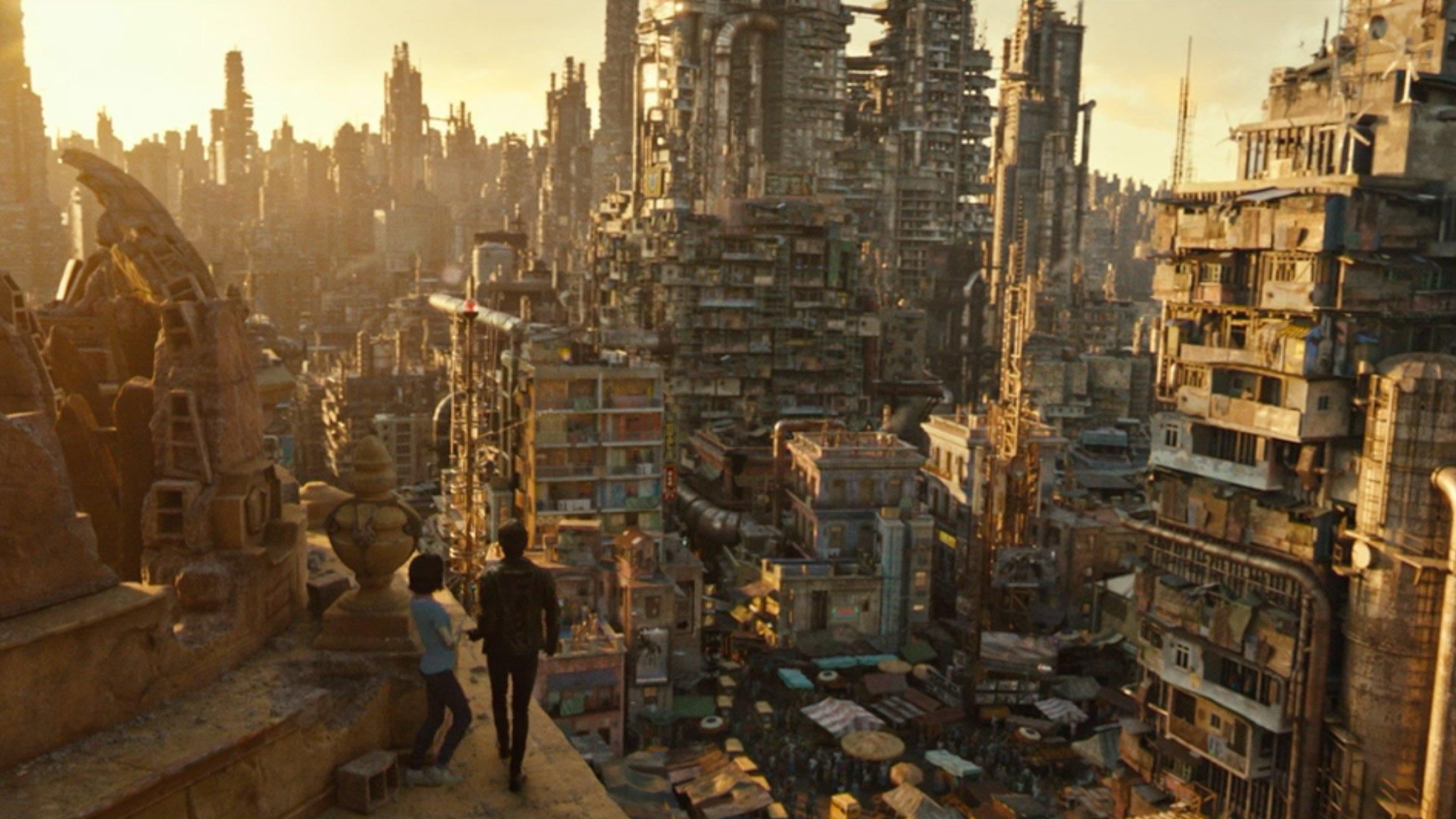 """Alita: Battle Angel sets are a """"respite"""" from dark sci-fi dystopia"""