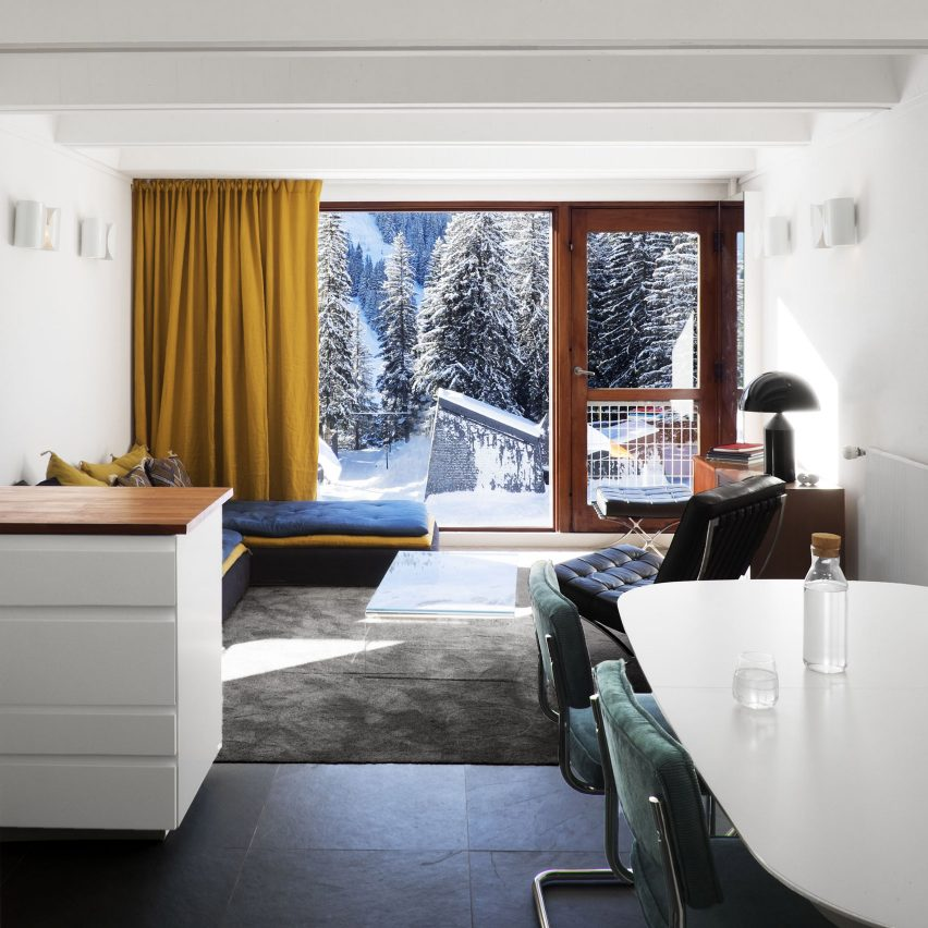 Volta updates holiday apartment inside Breuer's brutalist Flaine ski resort